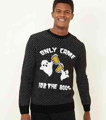 Black Only Came For The Boos Halloween Jumper