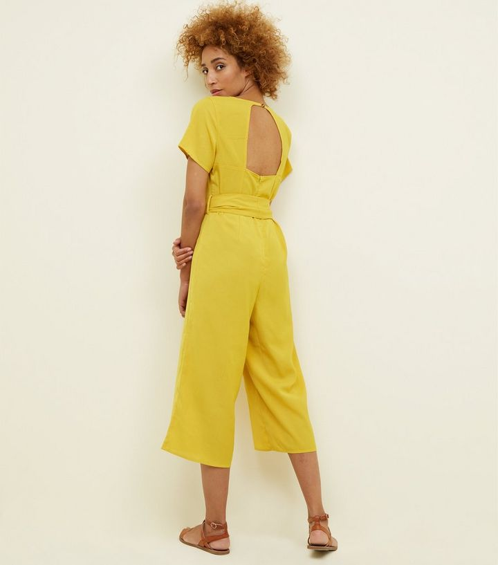 0425d32b85f ... Cameo Rose Mustard Button Front Culotte Jumpsuit. ×. ×. ×. Shop the look