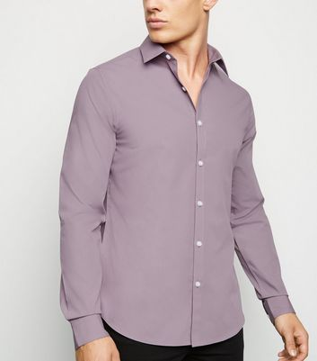 Lilac Long Sleeve Poplin Shirt