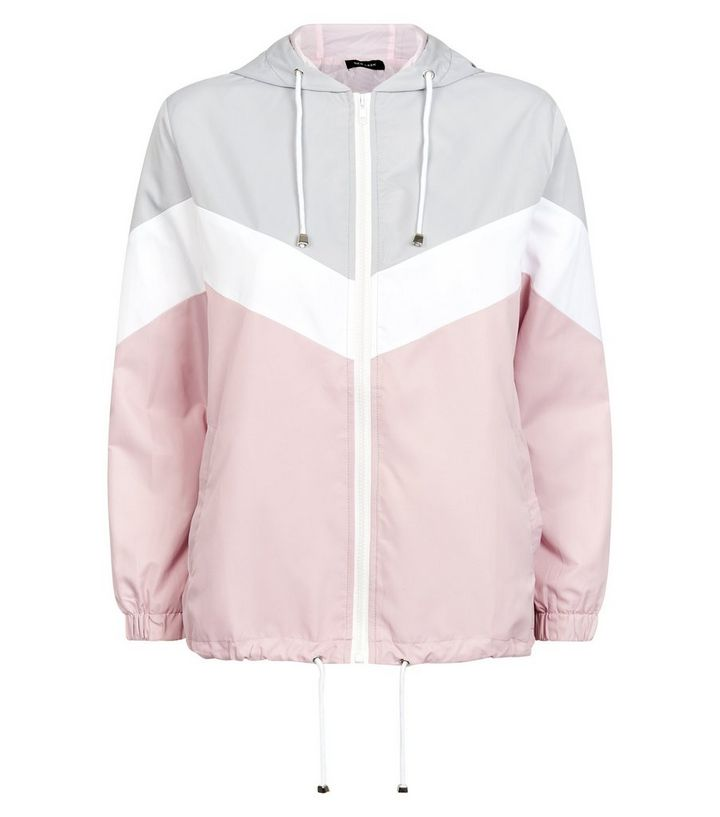 33f5aa4fd Pink Chevron Colour Block Windbreaker Jacket Add to Saved Items Remove from  Saved Items