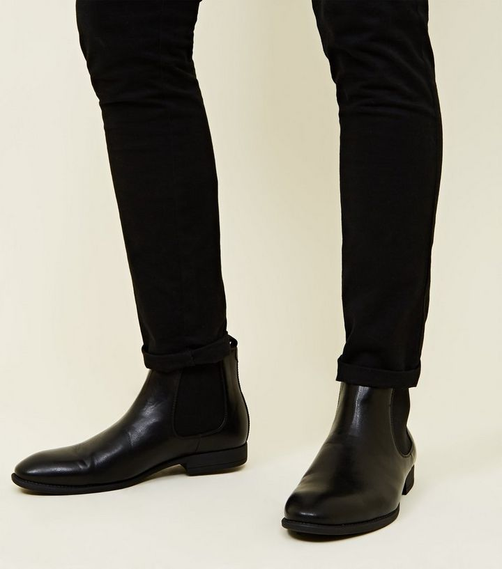 lowest price better info for Black Leather-Look Chelsea Boots Add to Saved Items Remove from Saved Items
