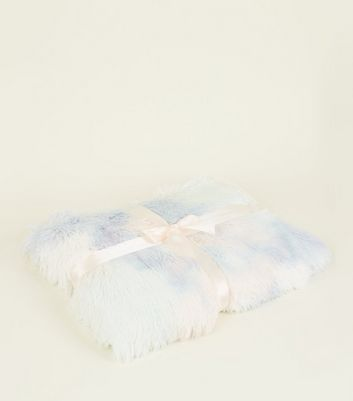 Pastel Multicoloured Faux Fur Throw