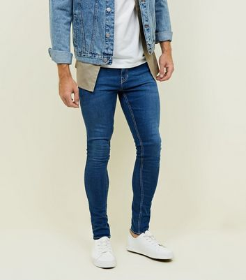 Bright Blue Super Skinny Stretch Jeans