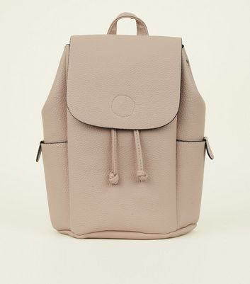 Nude Grain Leather-Look Backpack