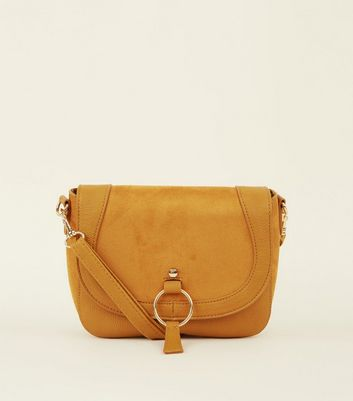Mustard Ring Detail Saddle Bag