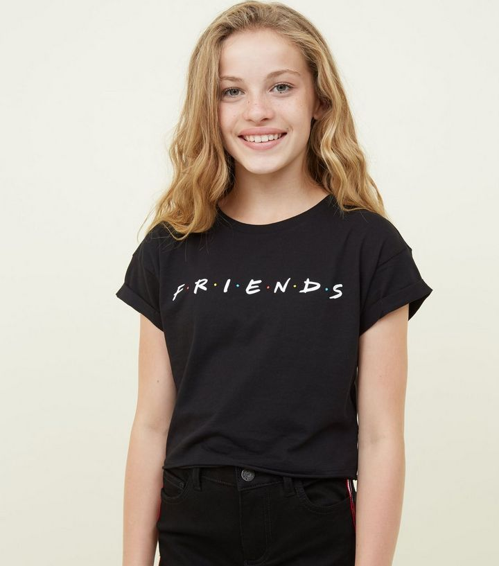 4021dea27 Girls Black Logo Friends T-Shirt | New Look