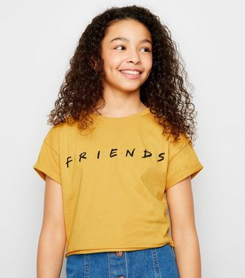 Girls Mustard Friends Logo T-Shirt