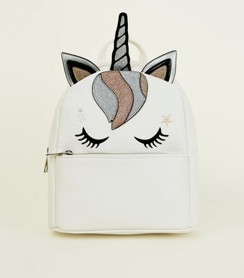 White Unicorn Backpack
