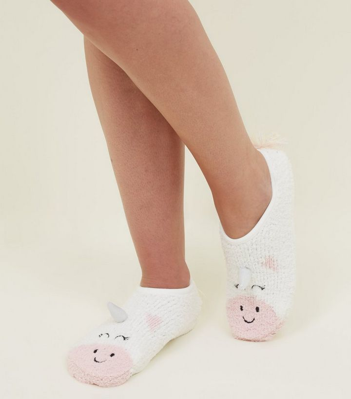 White 3D Unicorn Slipper Socks Add to Saved Items Remove from Saved Items