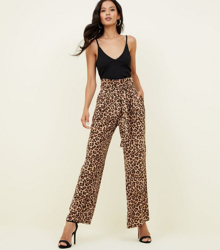 6670135c176 Blue Vanilla Brown Leopard Print Trousers Add to Saved Items Remove from  Saved Items