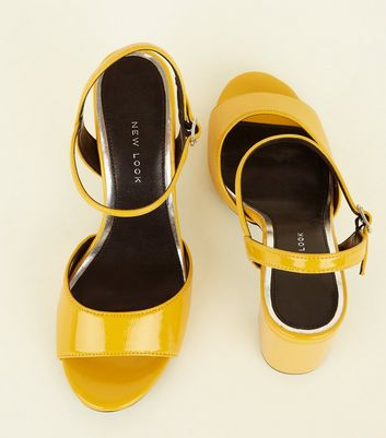mustard wide fit shoes