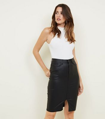 Jupe Femme New Look Coated Pencil