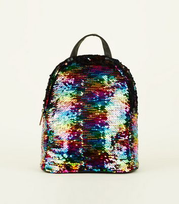Rainbow 2 Way Sequin Mini Backpack