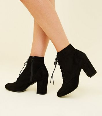 lace up block boots