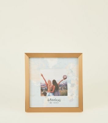 Rose Gold Map Photo Frame