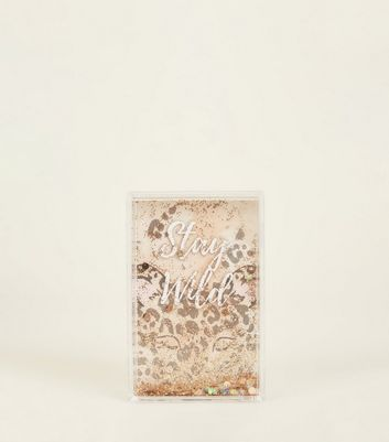 Brown Leopard Print Stay Wild Shake It Frame