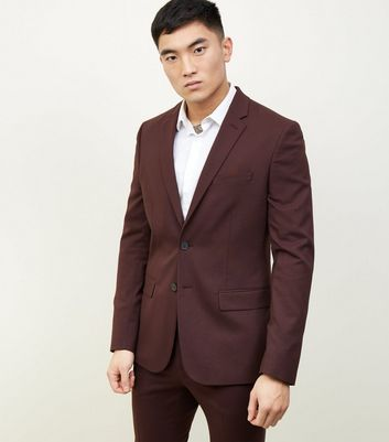 Blazer bordeaux slim