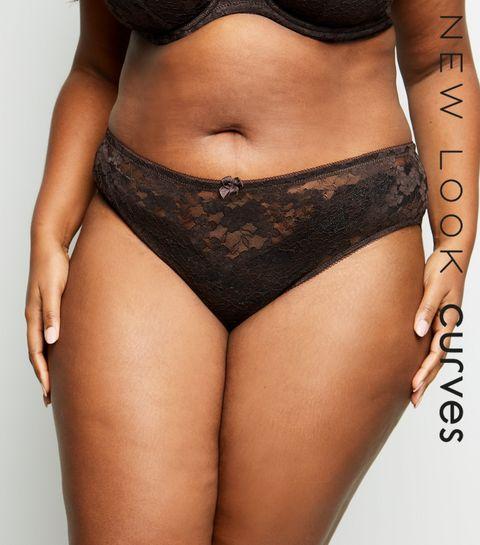 ff7cec297f7 ... Curves Dark Brown Lace Brazilian Briefs ...