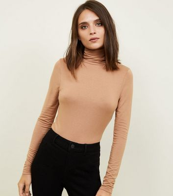 Camel Roll Neck Top
