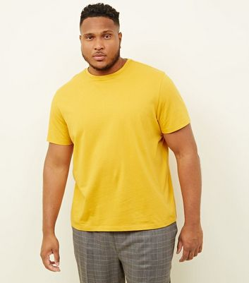 Plus Size Yellow Crew Neck T-Shirt