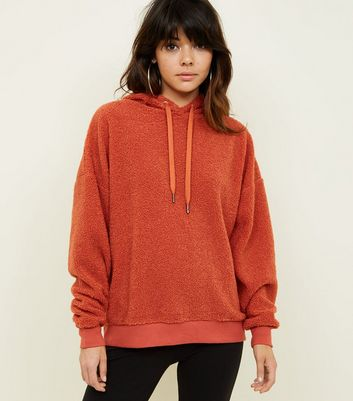 Orange Borg Oversized Hoodie