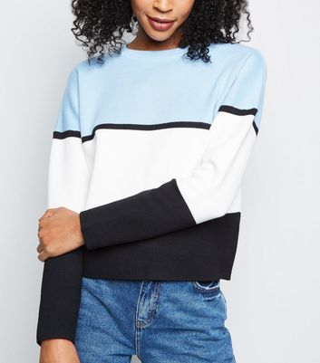 Blue Colour Block Jumper