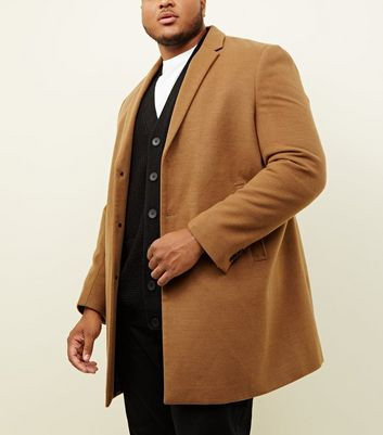 Plus Size Camel Overcoat