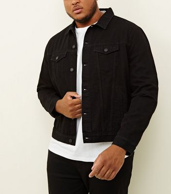 Plus Size Black Denim Jacket