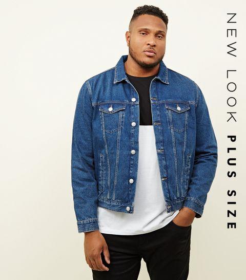 bb2af682a9b ... Plus Size Blue Denim Jacket ...