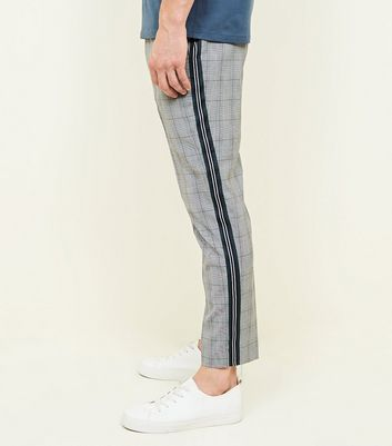 Light Grey Pull-On Side Tape Trousers