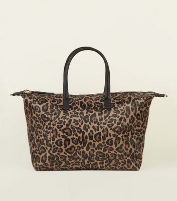 Brown Leopard Print Bag