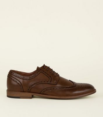 Dark Brown Lace-Up Brogues