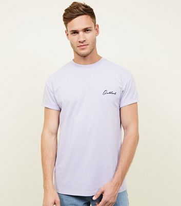 Lilac Oakland Embroidered Logo T-Shirt
