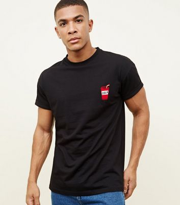Black Cola Embroidered T-Shirt