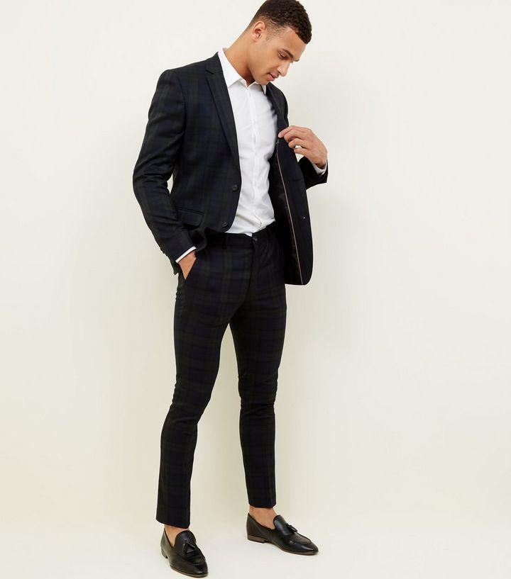5809486e0a5fd4 ... Dark Green Black Watch Check Skinny Trousers. ×. ×. ×. 1