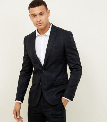 Dark Green Black Watch Check Blazer