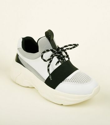 Grey Limited Edition Colour-Block Chunky Trainers