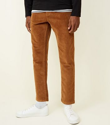 Stone Slim Crop Corduroy Trousers