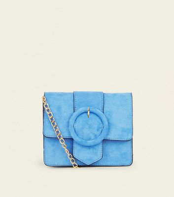 Bright Blue Circle Buckle Cross Body Bag