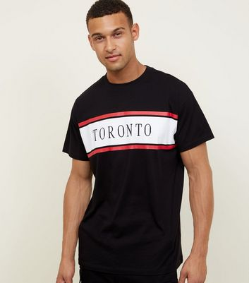 Black Toronto Panel Embellished T-Shirt