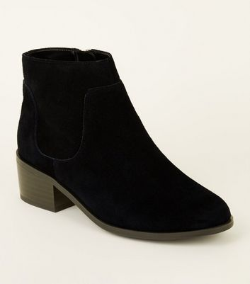 Girls Black Suede Ankle Boots