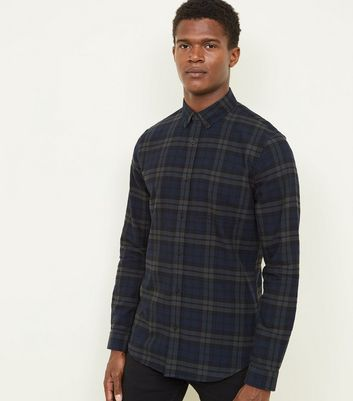 Green Black Watch Tartan Check Shirt