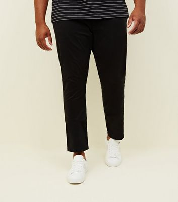 Plus Size Black Skinny Stretch Chinos