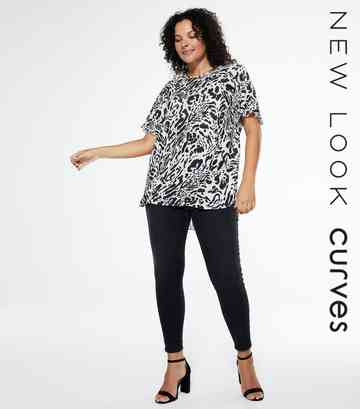 Curves Black Lift And Shape Skinny Jeans