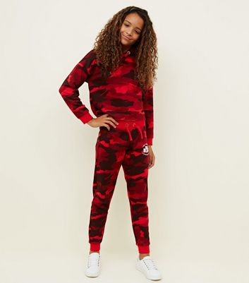 Girls Red Camo NYC Joggers