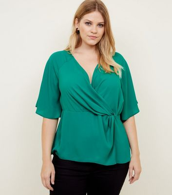Curves Green Twist Wrap Knot Top