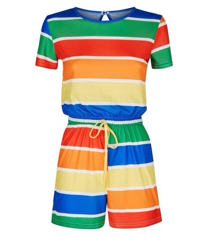 b664158a8b2 ... Carpe Diem Rainbow Stripe Playsuit. ×. ×. ×. Shop the look