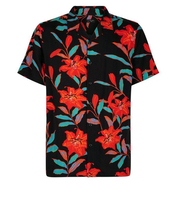 best cheap 75251 6670f Schwarzes, kurzärmliges Hemd mit Reverskragen Für später speichern Von  gespeicherten Artikeln entfernen