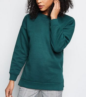 Dark Green Oversized Sweatshirt