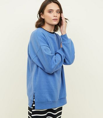 Bright Blue Oversized Sweatshirt